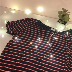 Garage striped lettuce edge shirt 😍😍